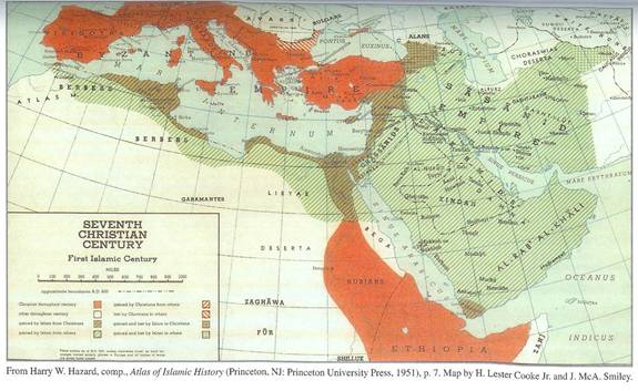 Islams Spread 7th Century