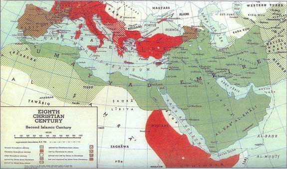 Islams Spread - 8th Century