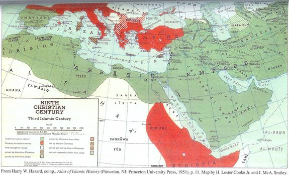 Islams Spread - 9th Century